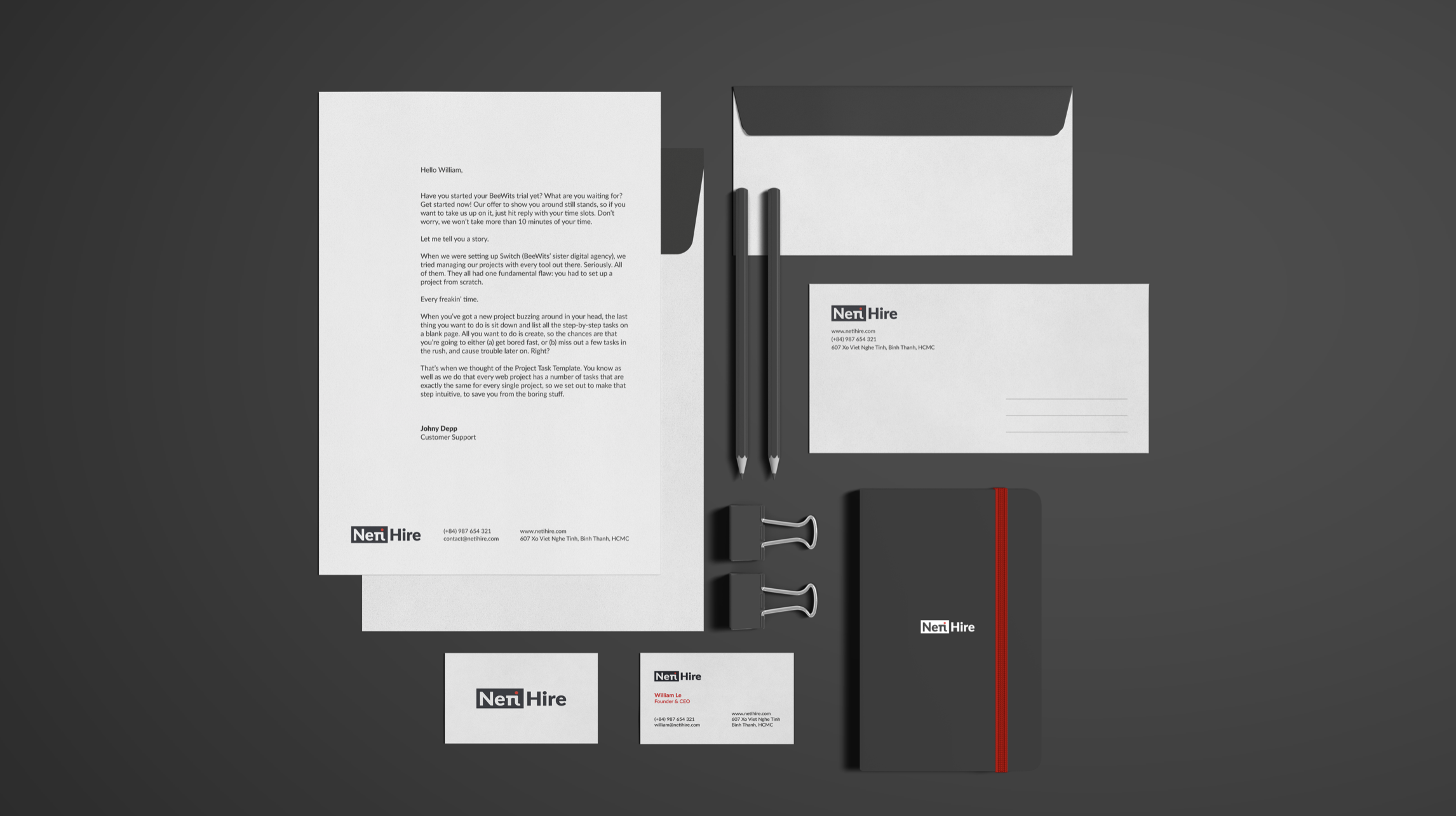 Stationery for NetiHire