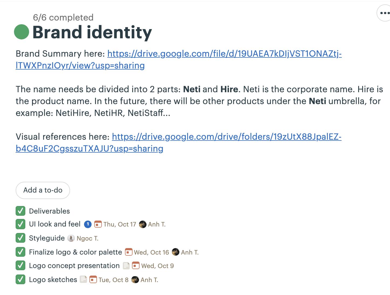 An Example of NetiHire Branding Identity
