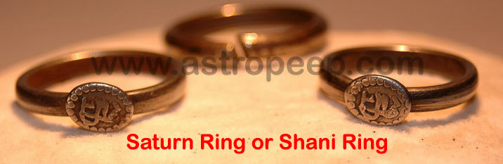 Saturn Ring made out of BlackHorse Shoe or Kale Ghode ki Naal To