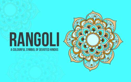 Navagraha Rangoli - prosperity and good luck or 9 planets