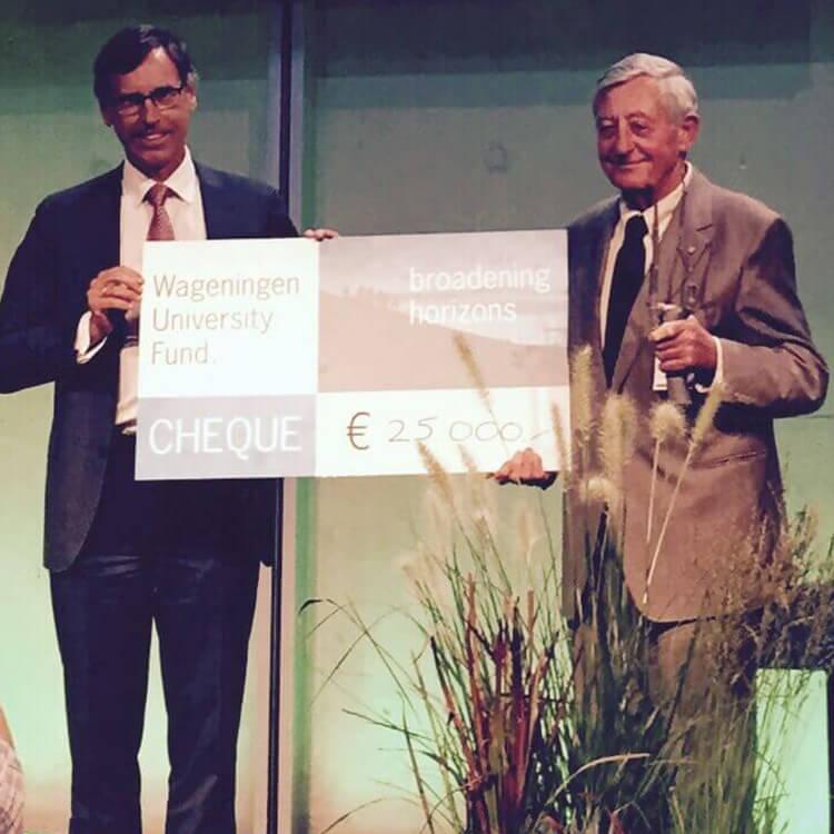 Simon Groot receives Mansholt Business Award for Sustainable Entrepreneurship