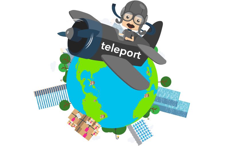 courier teleport banner