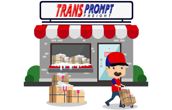 courier Transprompt Freight banner