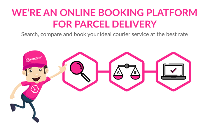 We're an online booking platform for parcel delivery