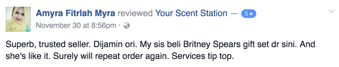 Your Scent Station Customer Review 2