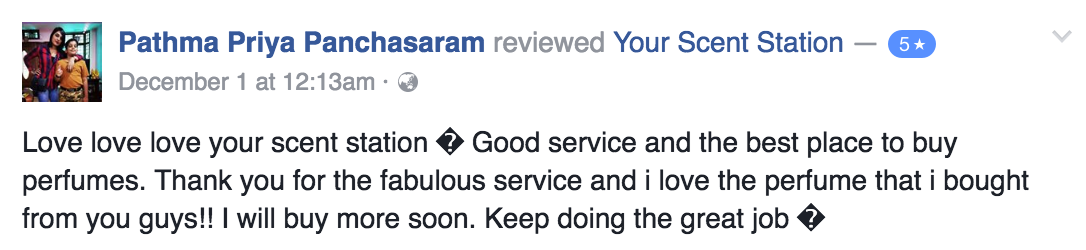 Your Scent Station Customer Review 4