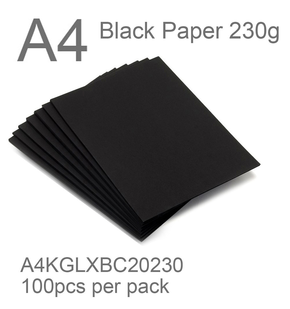 black paper A4 230g black card 2 side thefancypaper.jpg