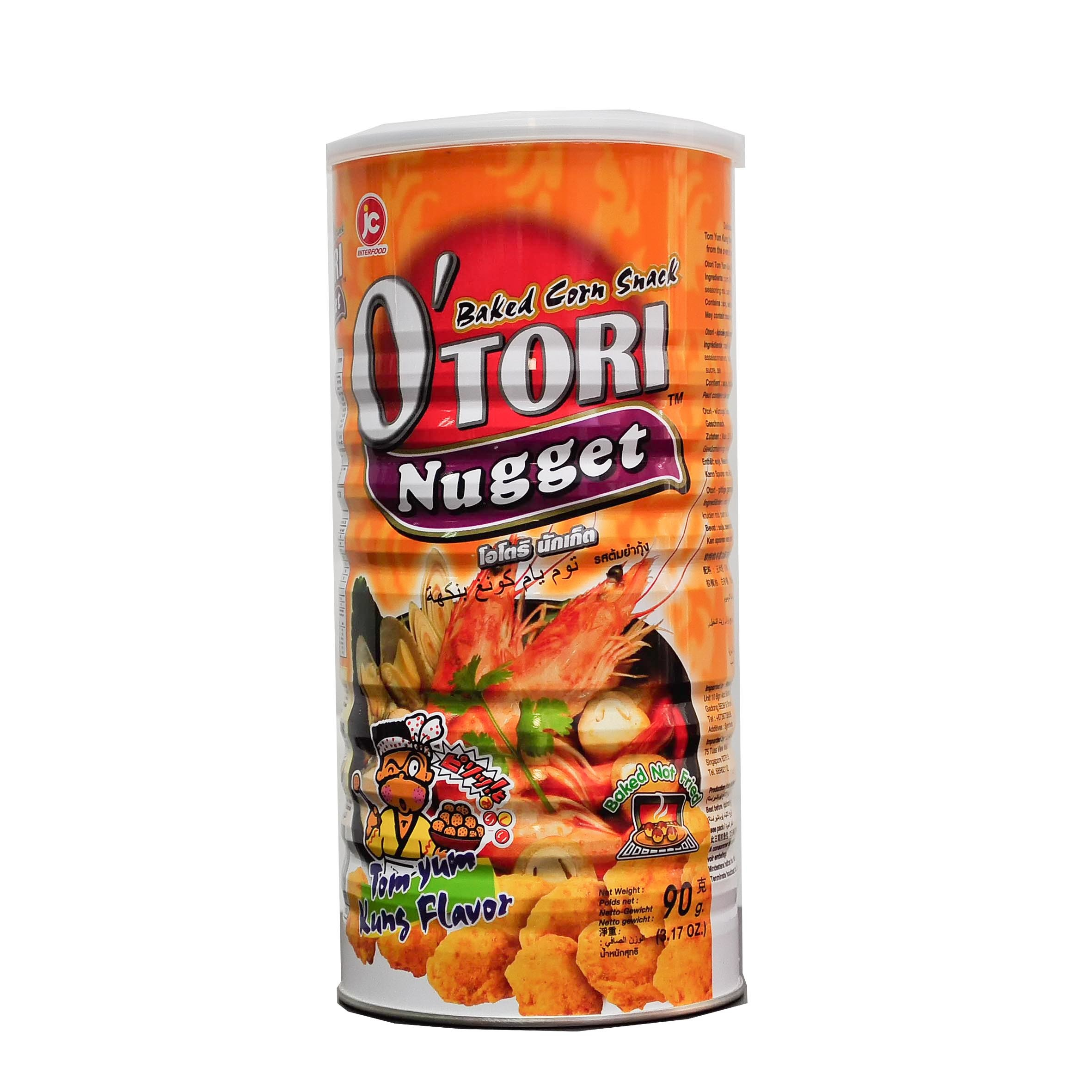 Otori Baked Corn SNack Nugget Ton Yum Kung Flavour Front.jpg