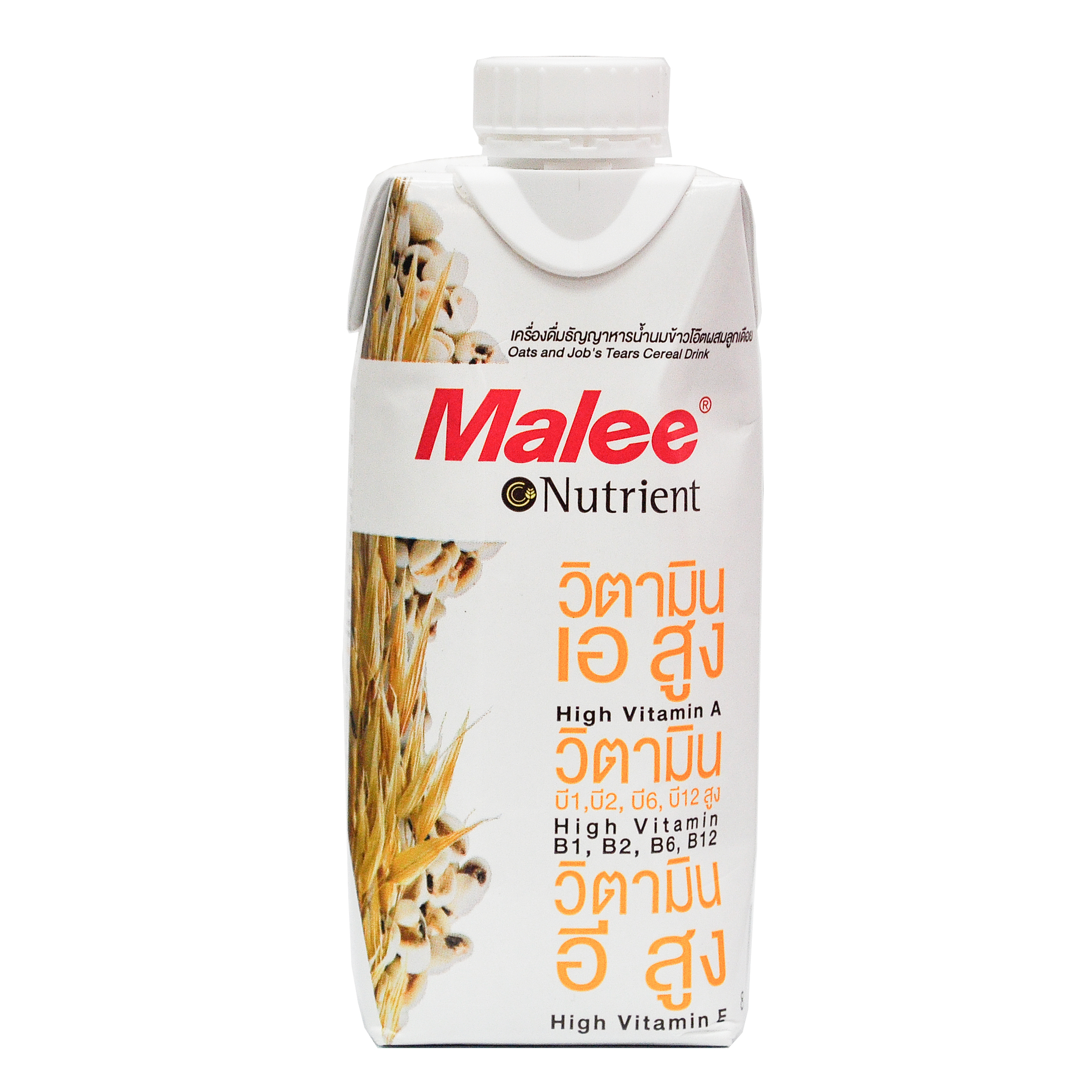 Malee Nutrient Brand Oats and Jobs Tears Cereal Drinks Back Front.jpg