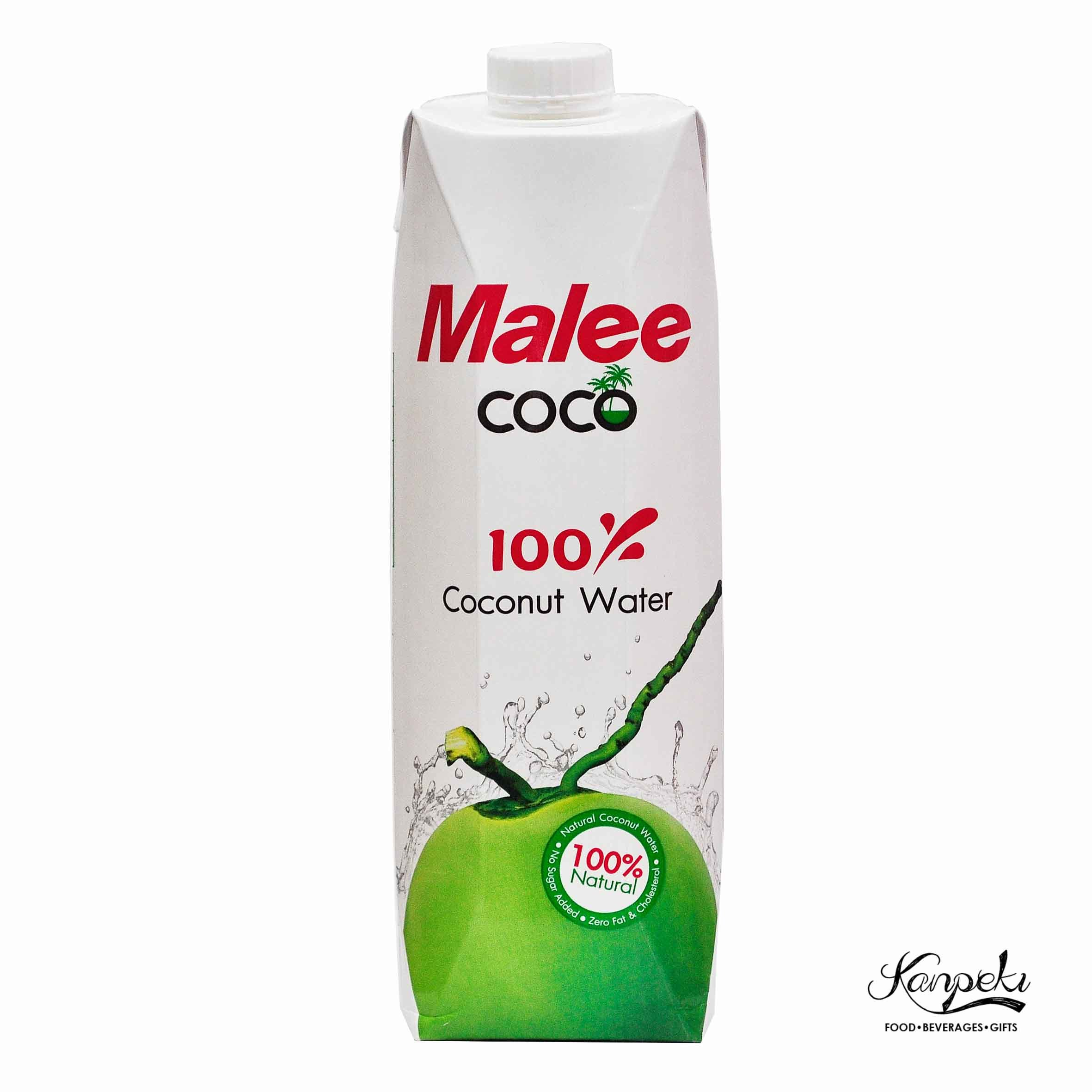 Malee 100percent Coconut Water Natural 1000ml English Front  Front.jpg