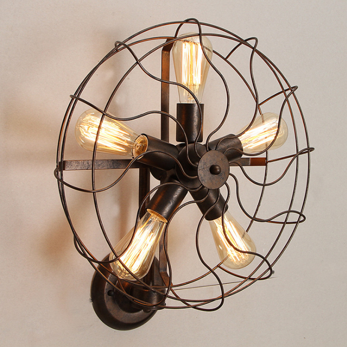 Antique Fan Design Wall Light coming soon Laito Lighting