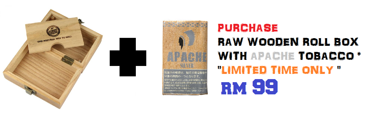 Raw Wooden Box with Apache tobacco