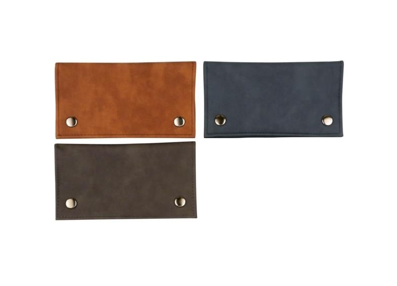 Tobacco Pouch leatherette Soft Assorted colors with Zipper on back Side (628150).png