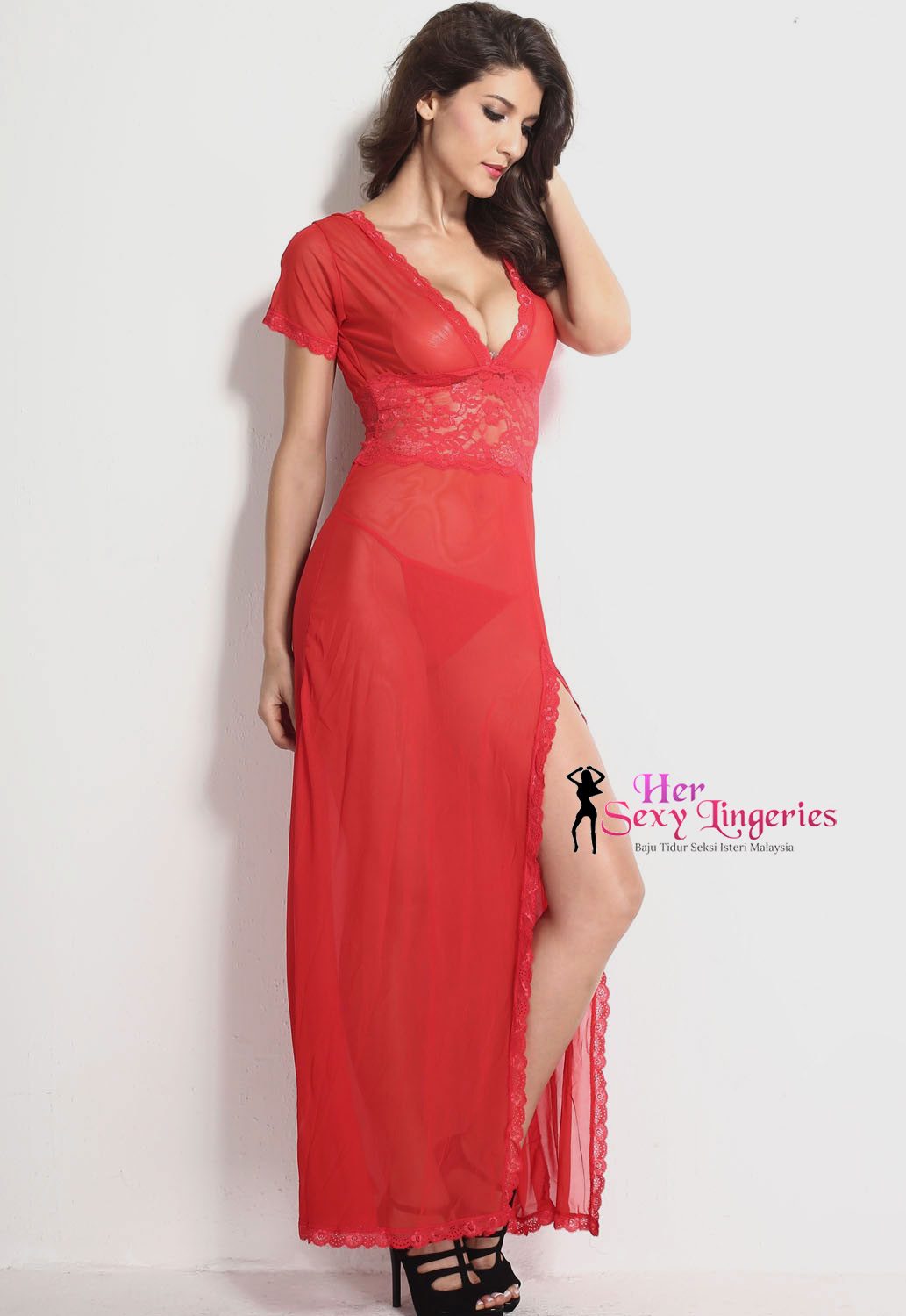 Lace Long Dress Nightwear Lingeries Sexy 1b.jpg