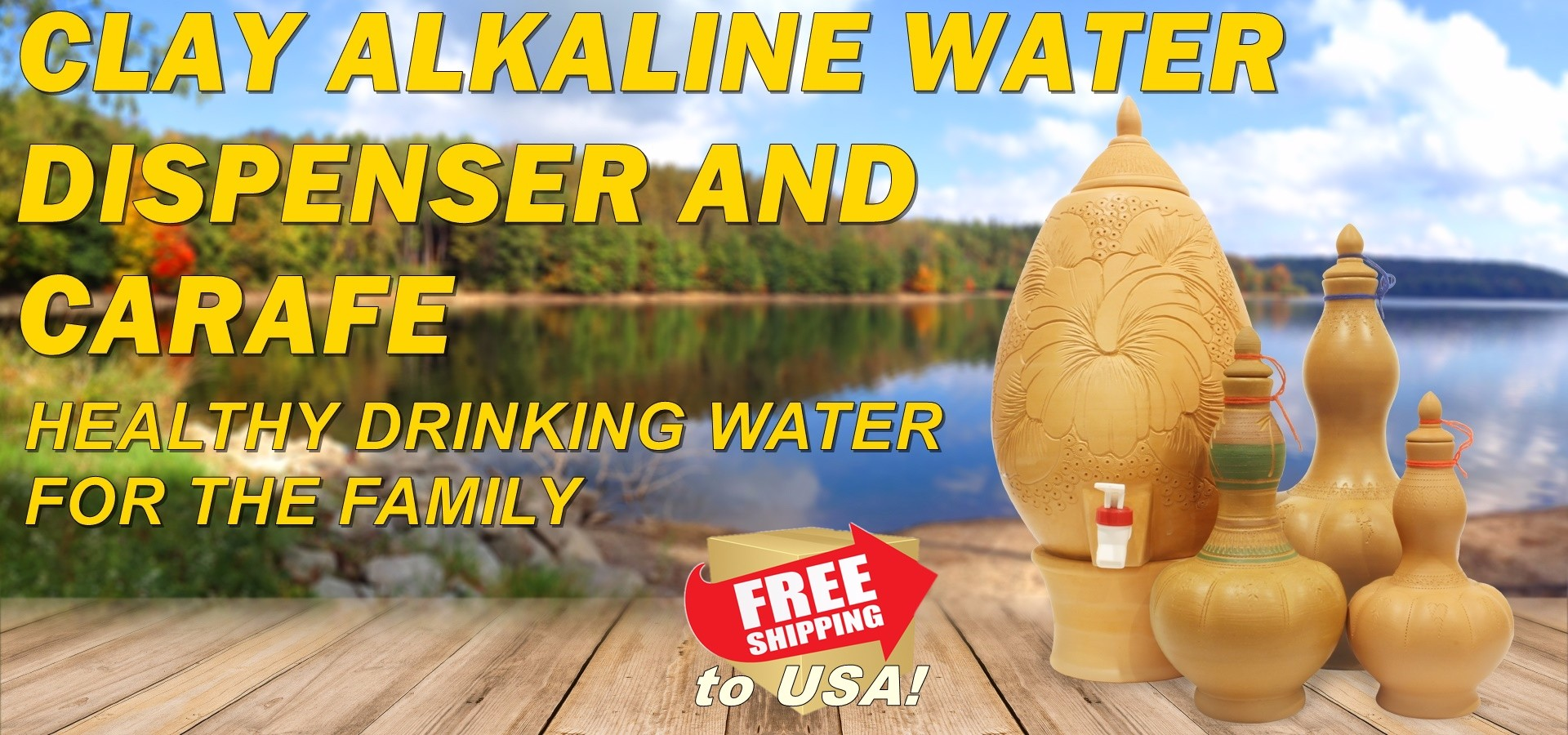clay earthen water dispenser water crock alkaline water