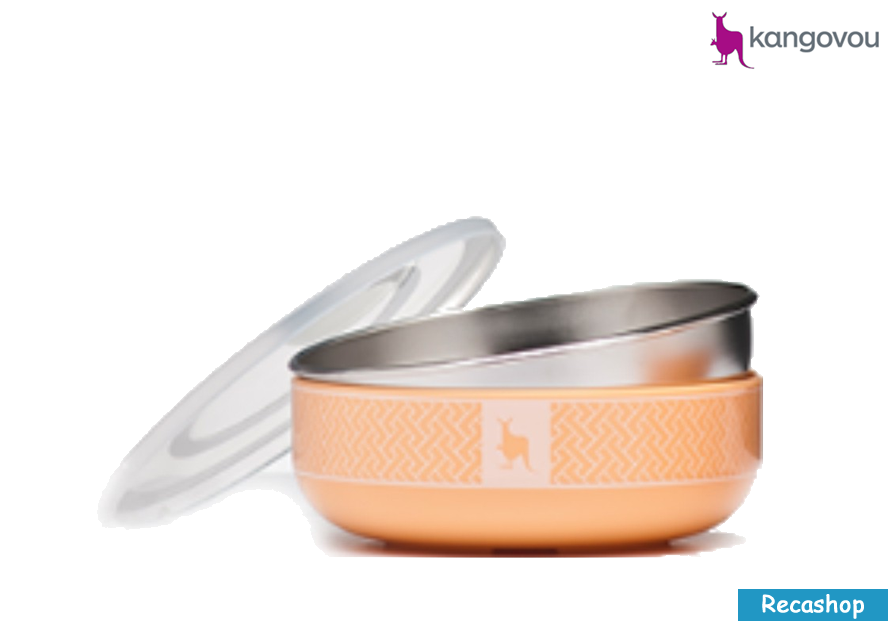 Kangovou Cereal Bowls - 10 oz Peaches and Cream.fw.png