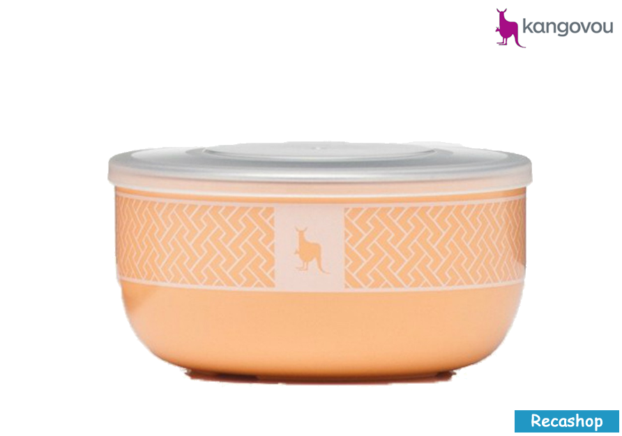 Kangovou Snack Bowls - 10 oz Peaches and Cream.fw.png