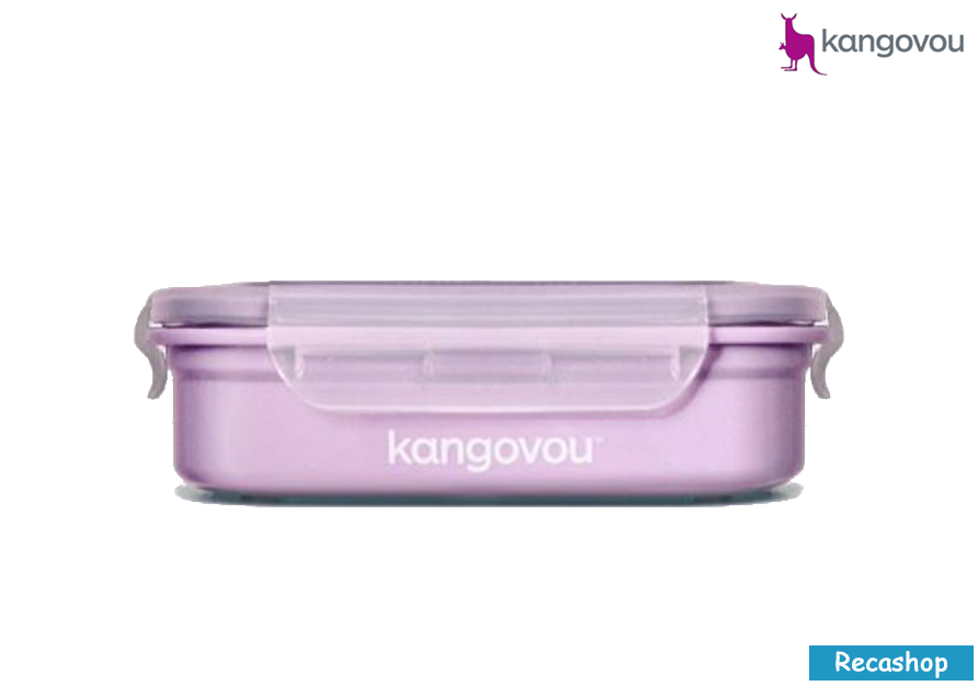 Kangovou Double Insulated Bento Box with Divider - 11oz Purple.fw.png