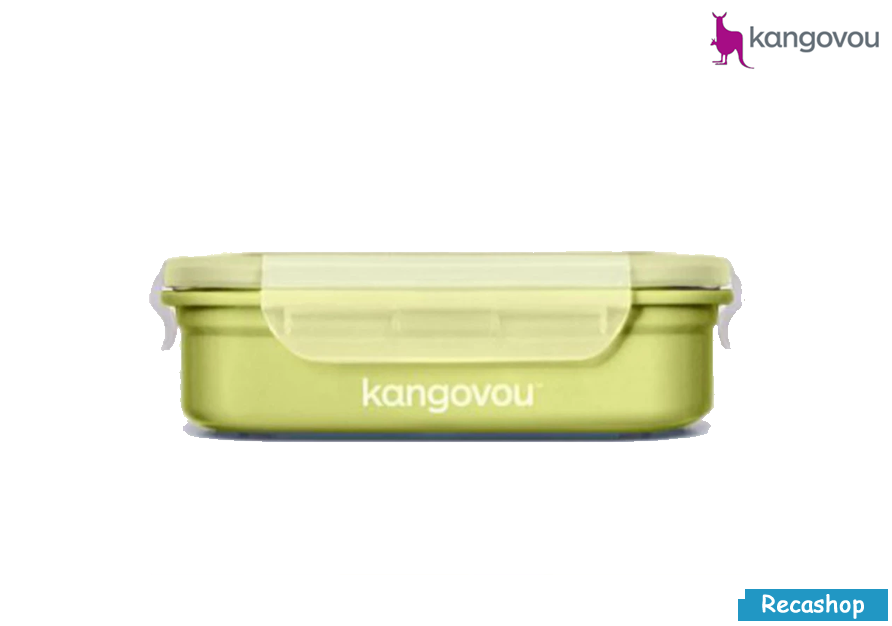 Kangovou Double Insulated Bento Box with Divider - 11oz Green.fw.png