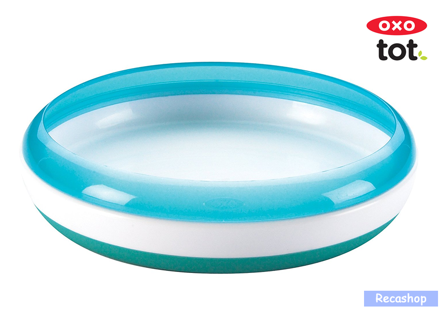 Oxo Tot Training Plate with Removable Ring (Aqua).fw.png