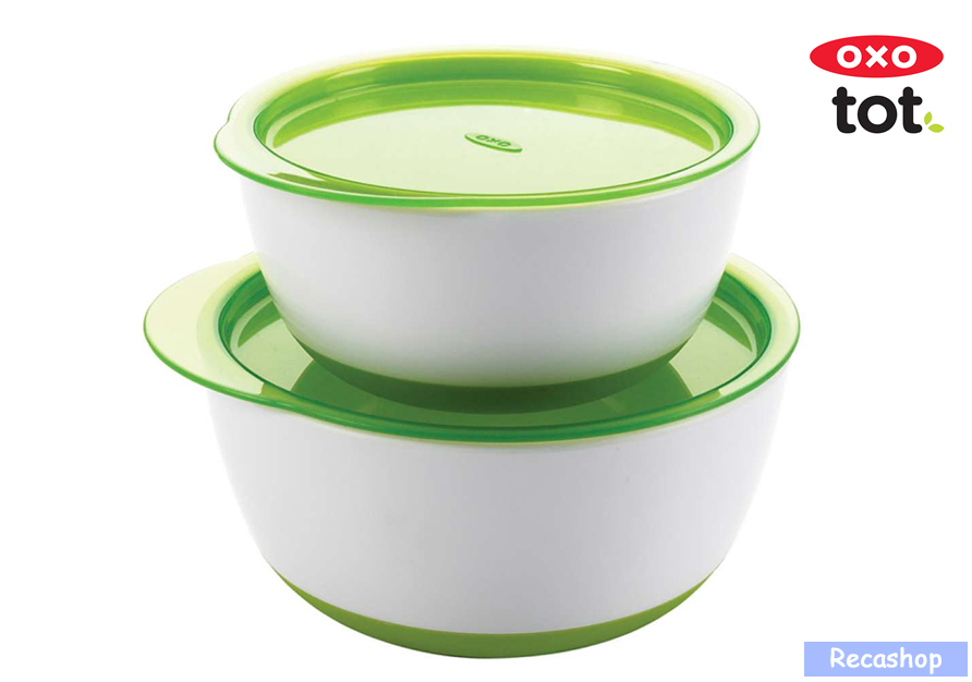 Oxo Tot Small  Large Bowl Set (Green).fw.png