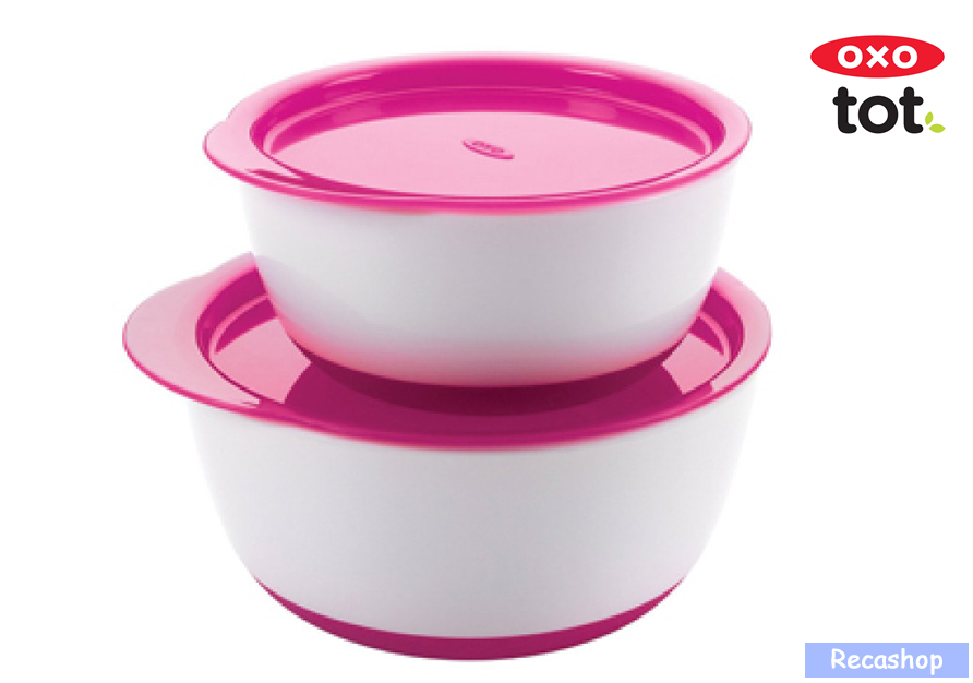 Oxo Tot Small   Large Bowl Set (Pink).fw.png