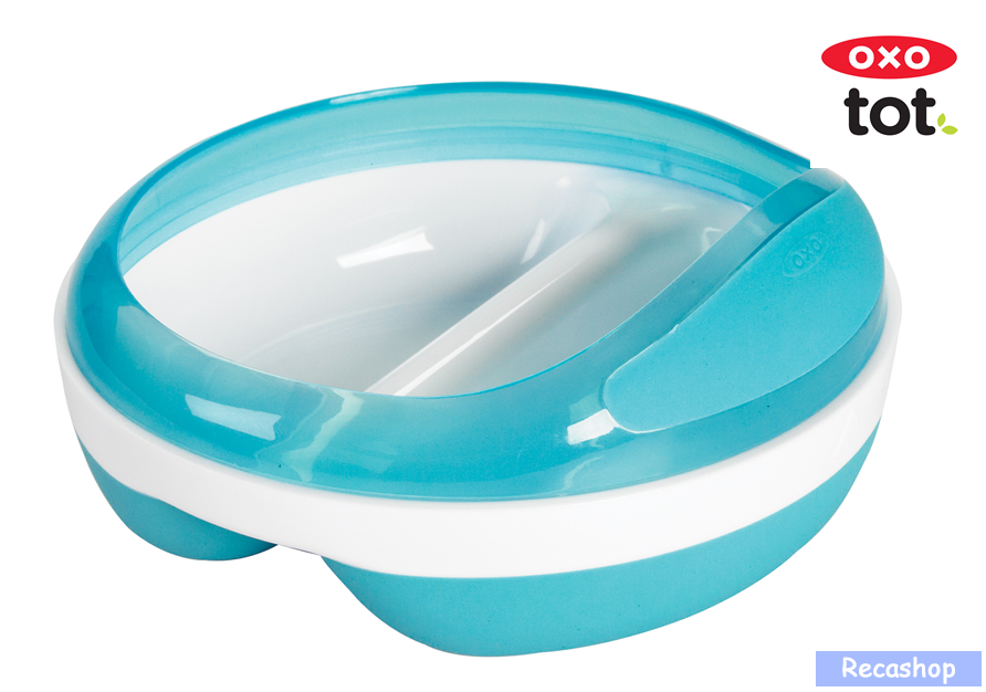 Oxo Tot Divided Feeding Dish with Removable Ring  (Aqua).fw.png