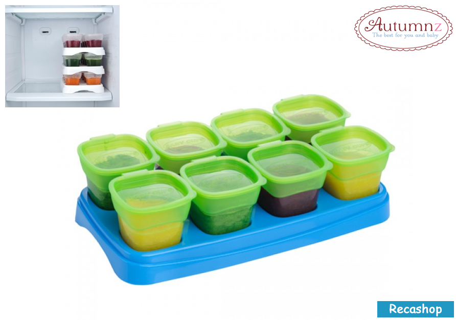 Autumnz EASY Breastmilk  Baby Food Storage Cups (2oz)- green.fw.png