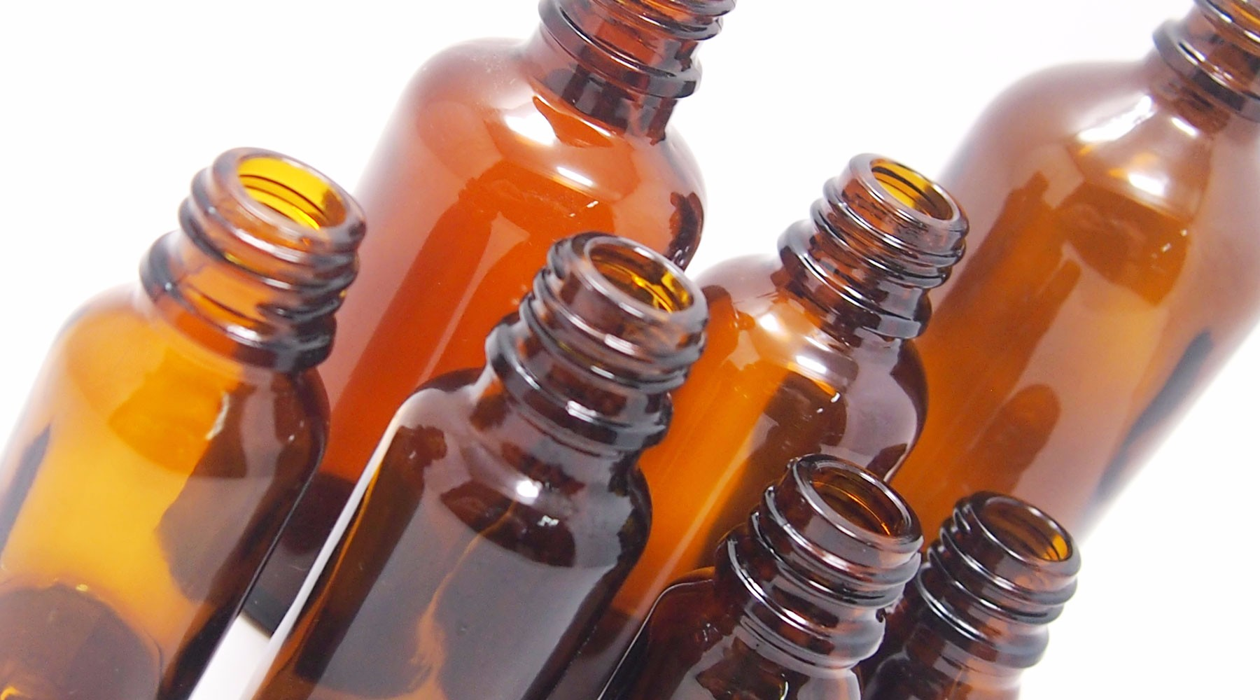 Amber Aromatic Glass Bottles