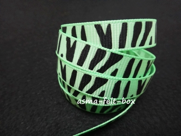 ribbon zebra green.JPG