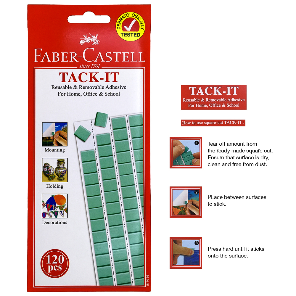 1570368aFab-Tac, Faber Castell Tack-it Reusable and Removable Adhesive 120 pcs, Dermatologically Tested - Set of 3, Faber Castell, Tack-l.jpg