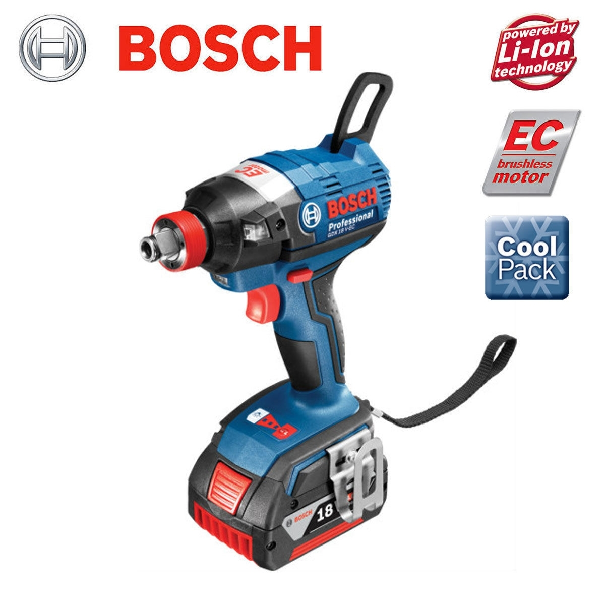 bosch gdx 18v ec brushless cordless impact driver wrench my power tools. Black Bedroom Furniture Sets. Home Design Ideas