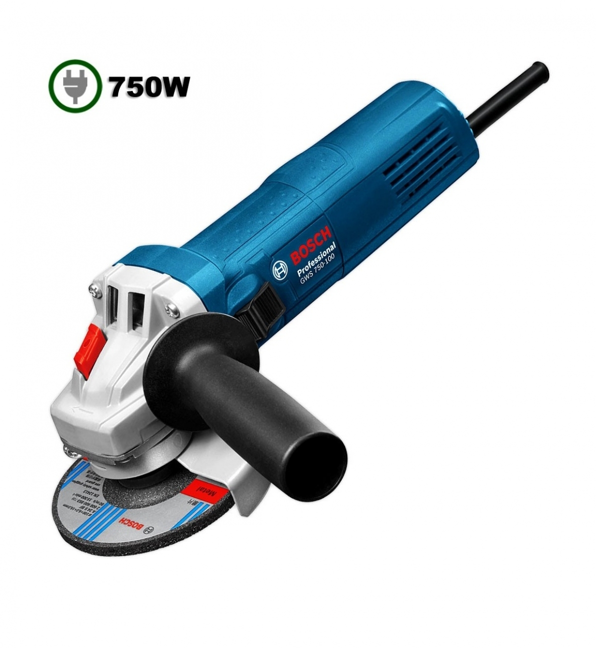 bosch gws 750w 4 angle grinder my power tools. Black Bedroom Furniture Sets. Home Design Ideas