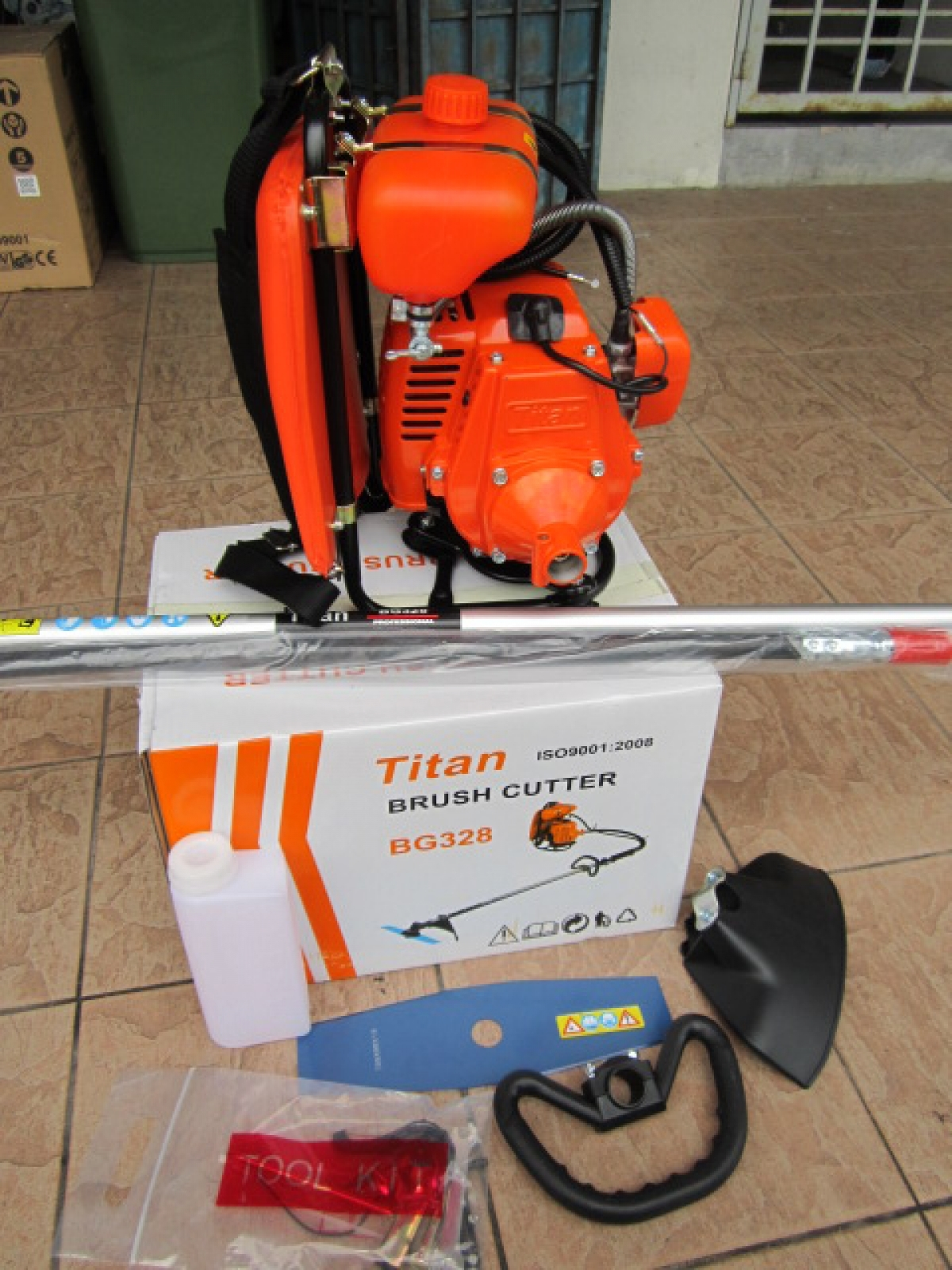 Titan Bg328 Backpack Gasoline Brush Cutter Machine My