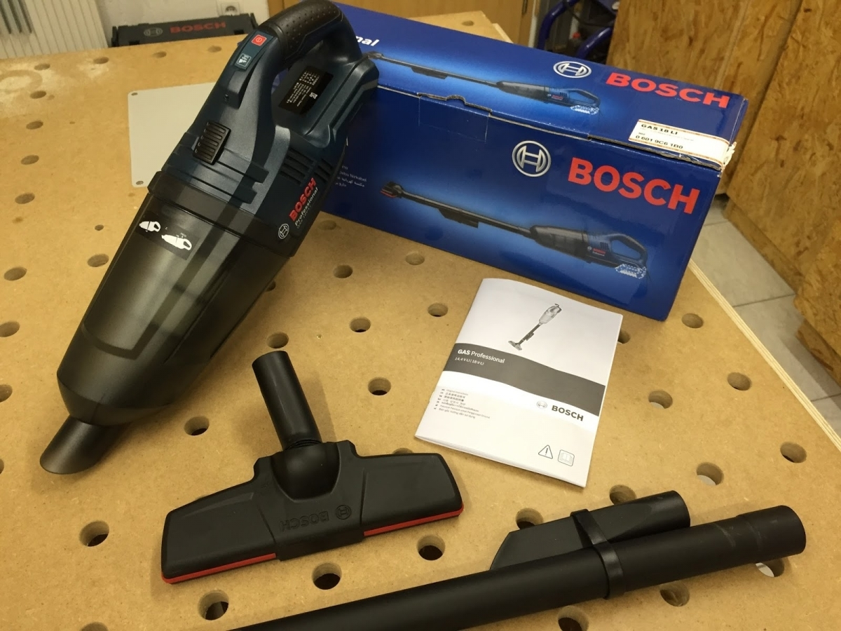 bosch gas 18v cordless vacuum cleaner solo my power tools. Black Bedroom Furniture Sets. Home Design Ideas