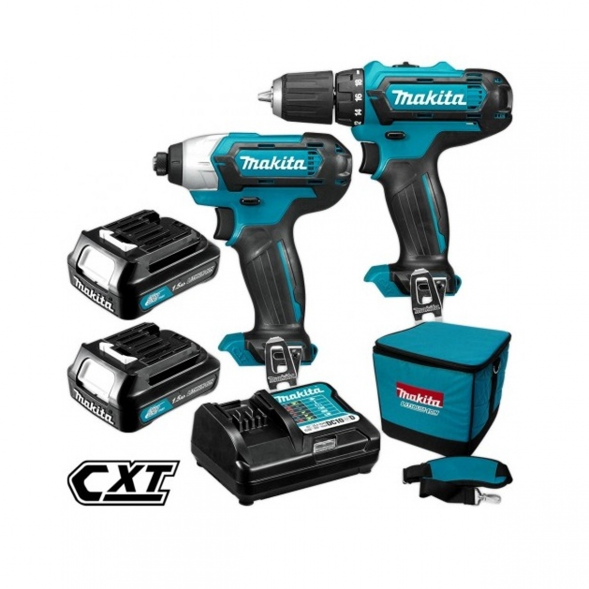 makita 12v max cordless drill driver impact driver combo kit my power tools. Black Bedroom Furniture Sets. Home Design Ideas