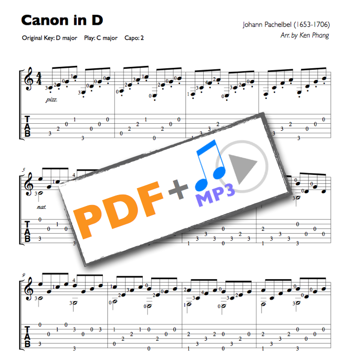 how to play pachelbel canon in d on guitar