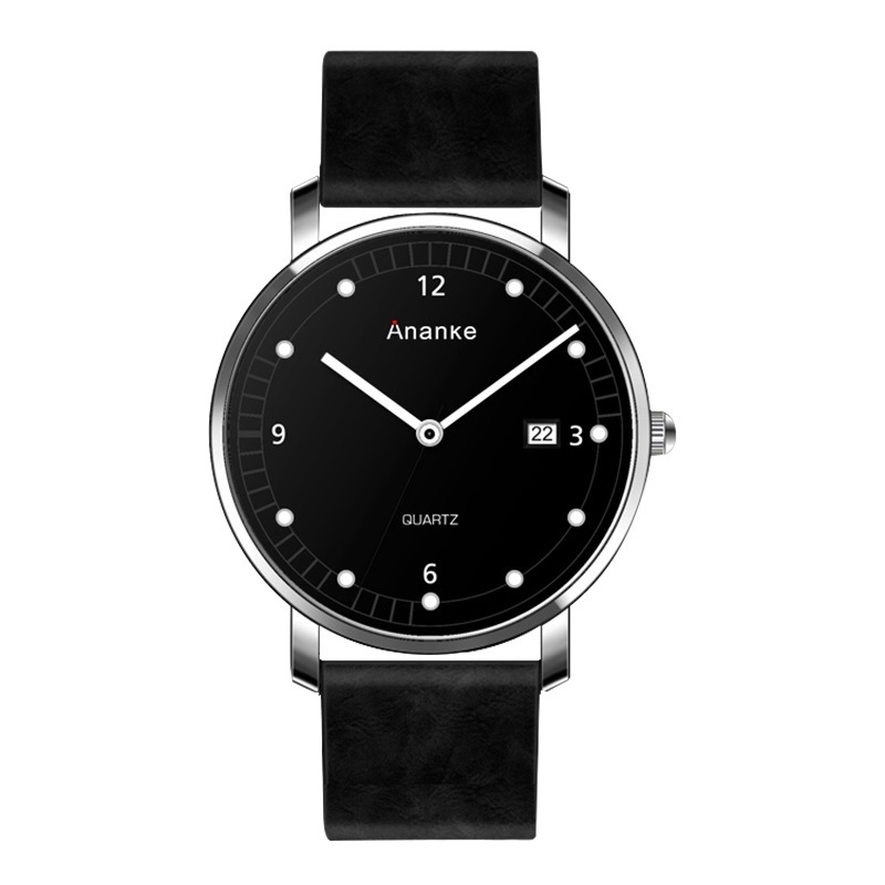 Leisure Ananke Leather Watches Black.jpg