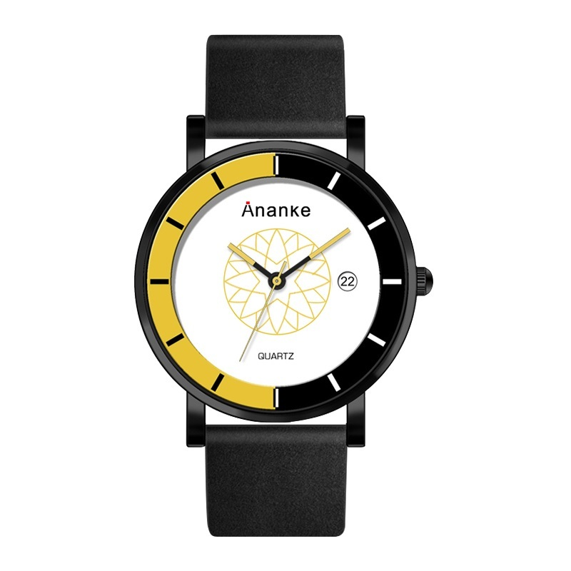 Hodler Ananke Leather Watches Yellow.jpg