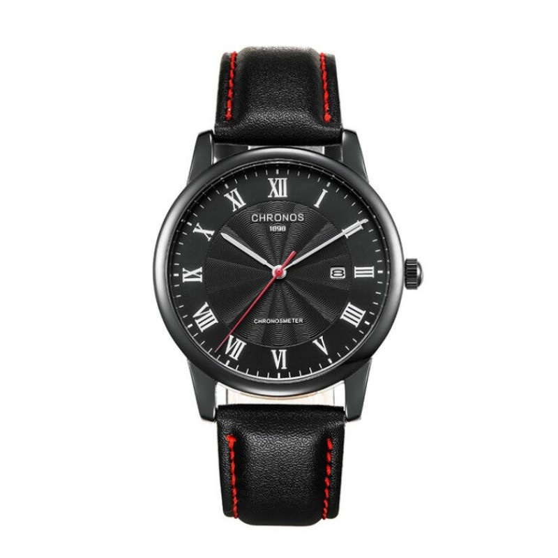 Roma Chronos Leather Watches Black.jpg