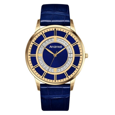 Prime Ananke Leather Watches Golden Blue.jpg