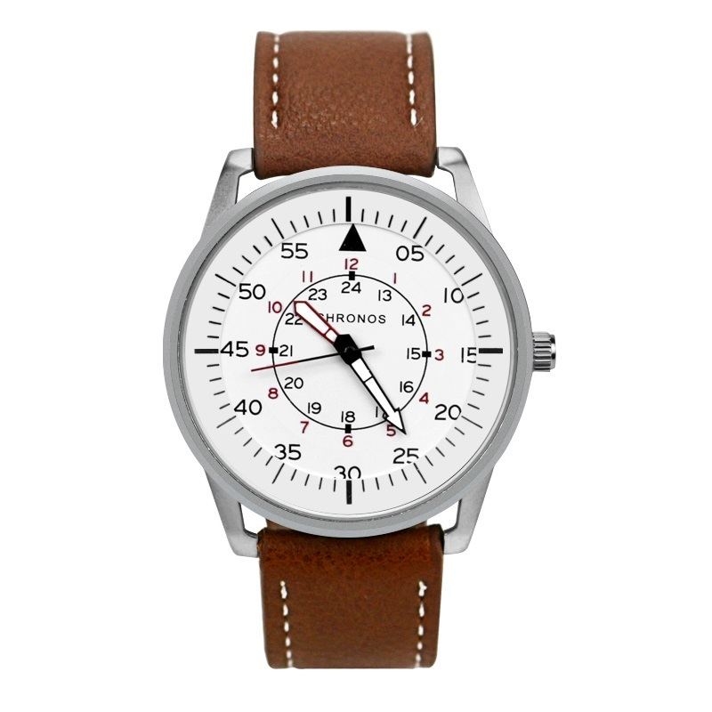 Pilot Chronos Leather Watches White.jpg