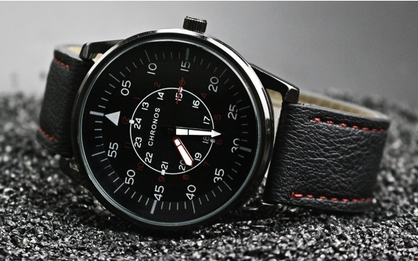 Pilot Chronos Leather Watches Red Black (2).jpg