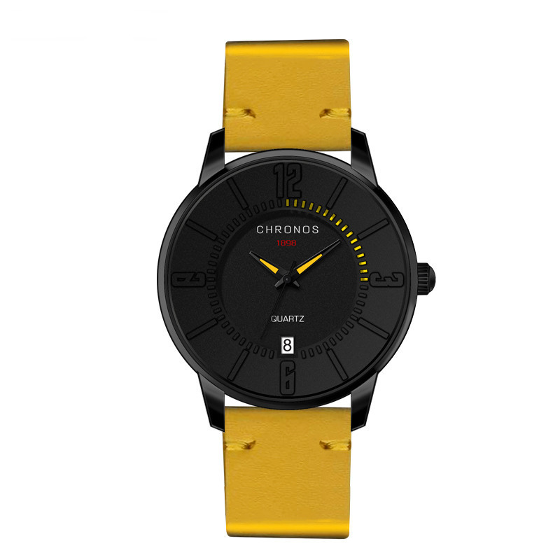 Supreme Chronos Leather Watches Yellow.jpg