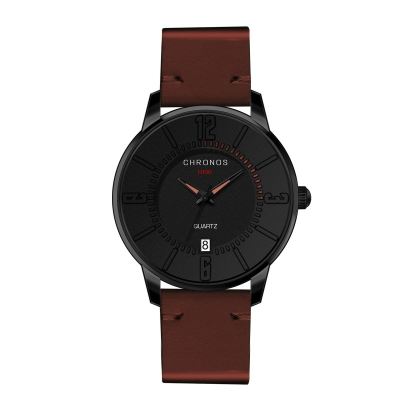 Supreme Chronos Leather Watches Brown.jpg