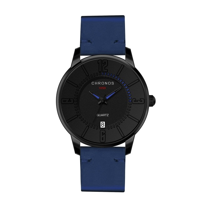 Supreme Chronos Leather Watches Blue.jpg