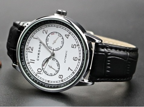 Dual Chronos Leather Watches Sliver Black.jpg