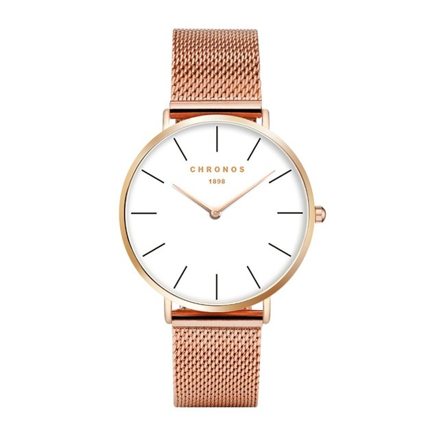 Minimal Chronos Rose Gold Alloy Mesh Strap.jpg