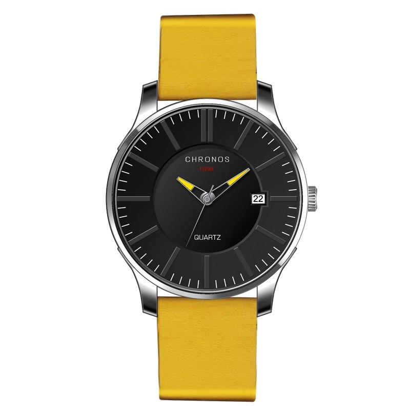 Prince Chronos Leather Watches Yellow.jpg