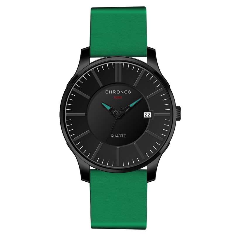 Prince Chronos Leather Watches Green.jpg